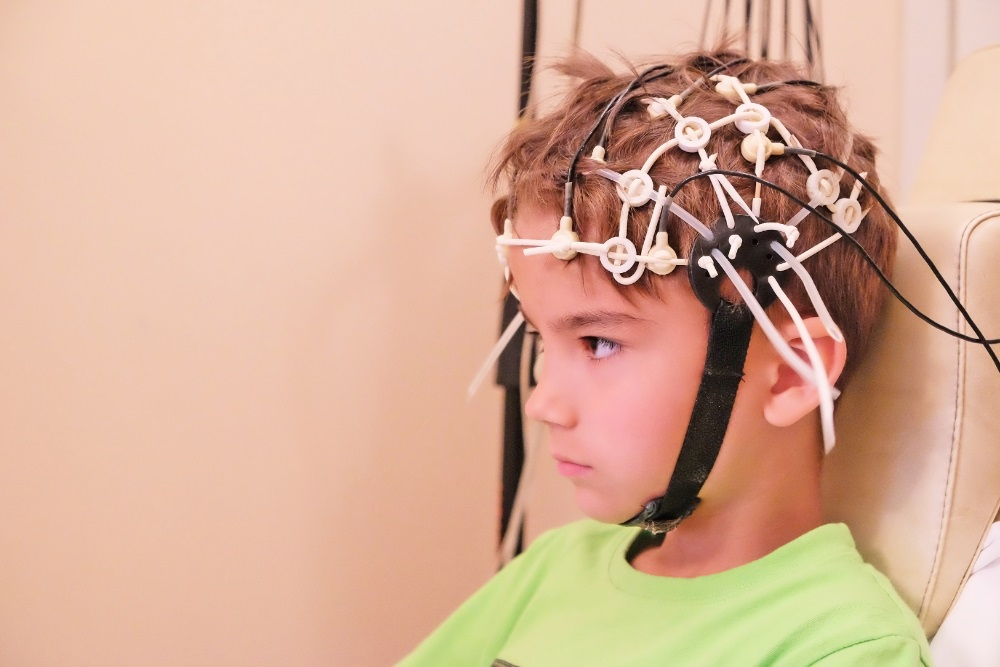 Conducting EEG for a child