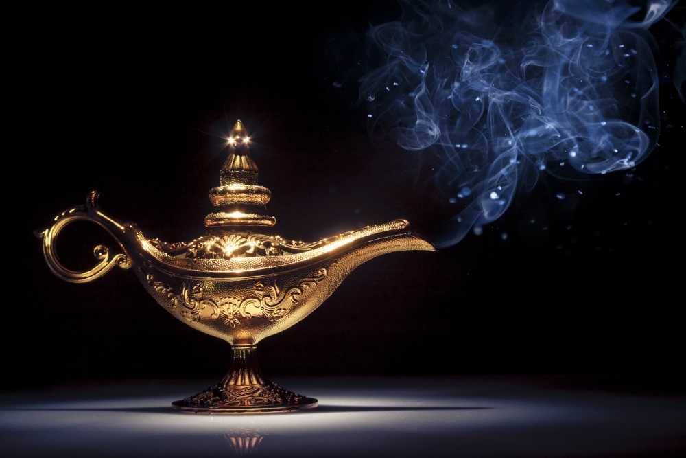 Magic Aladdin's Genie lamp