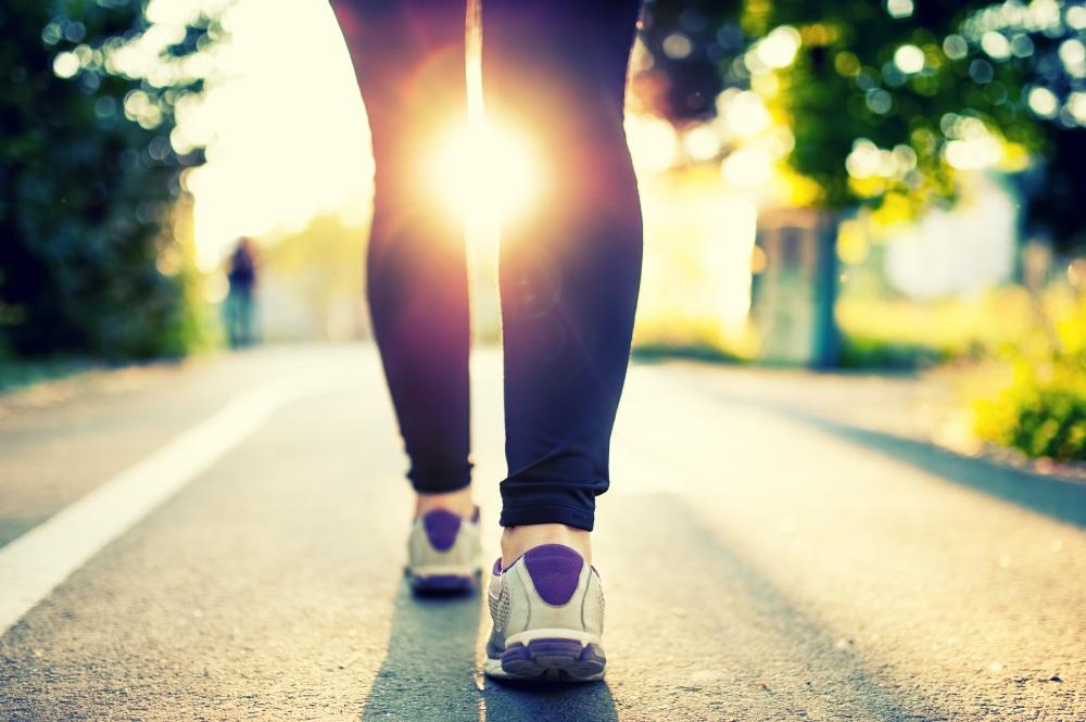 woman athlete running