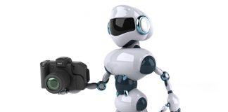 Robot holding camera