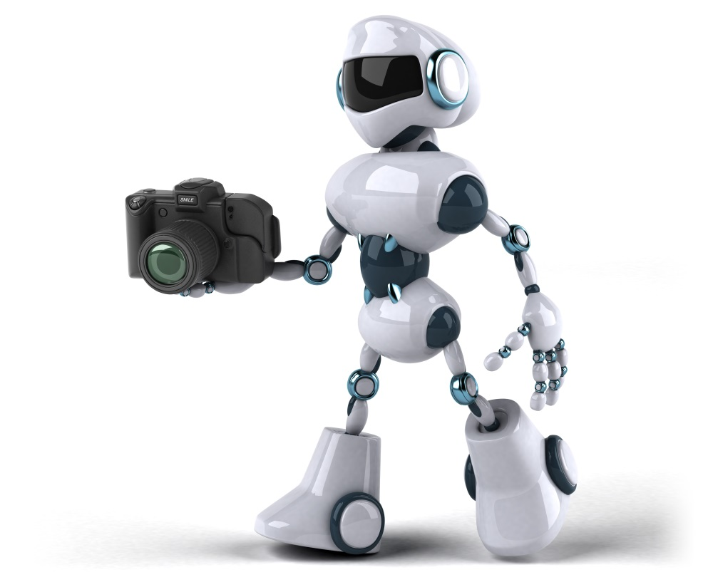 Robot holding camera