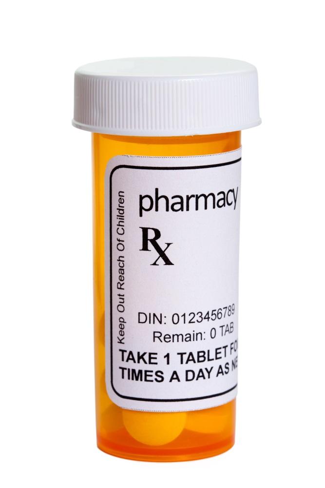Yellow Pill Bottle