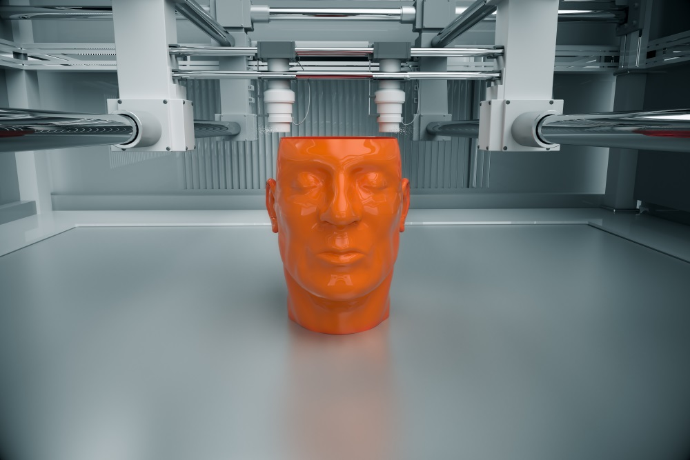 3d printing of human head